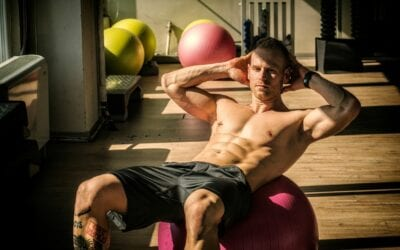 Abdominal Ball Crunch with Twist