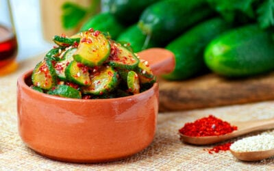 Spicy & Sweet Cucumber Salad