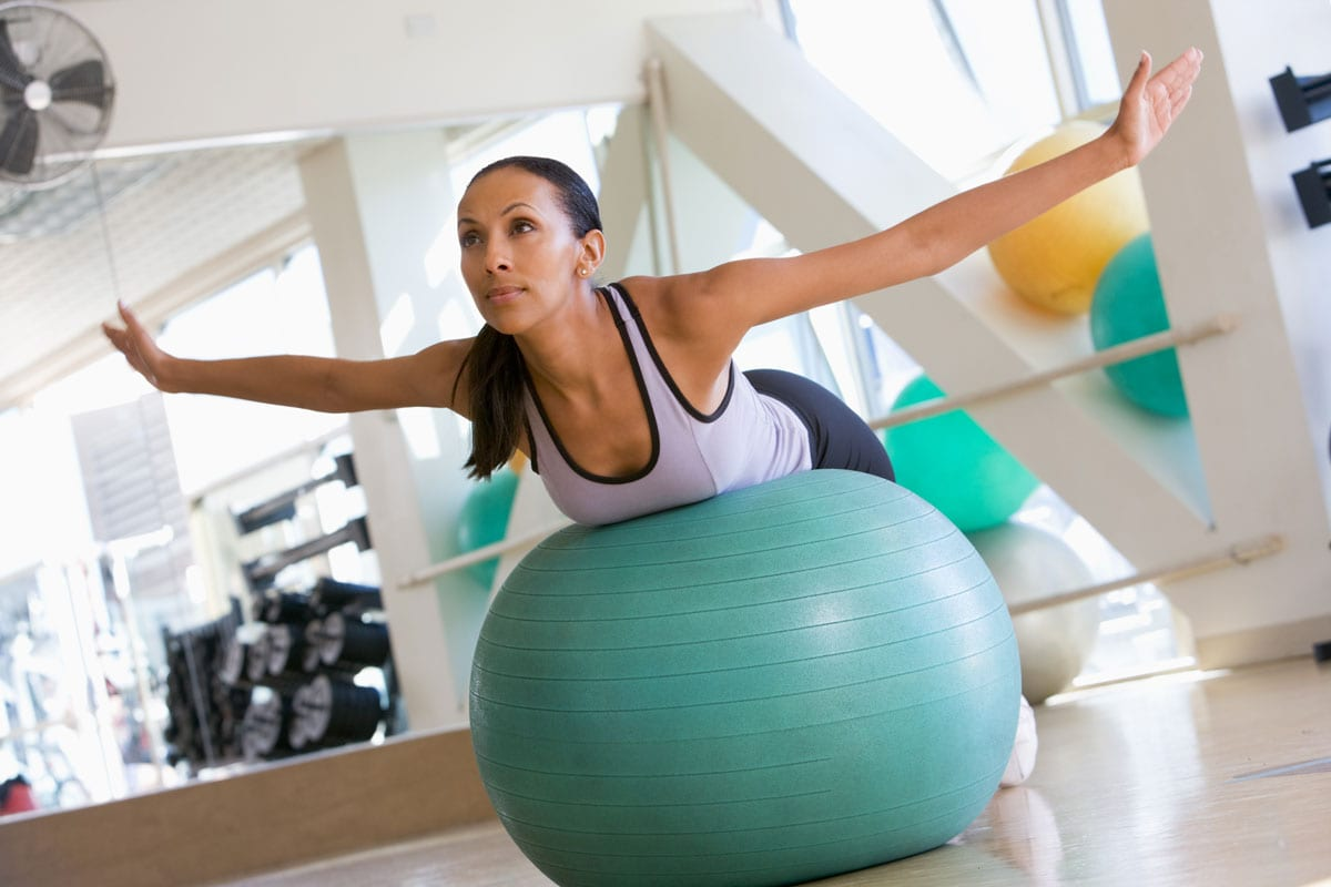 Best Exercise Balls Reviewed Back Stretch