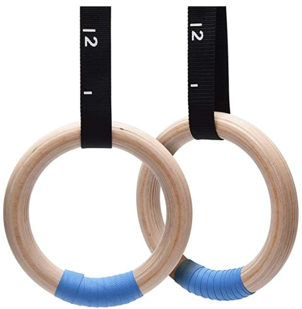 PACEARTH Wood Gymnastic Rings